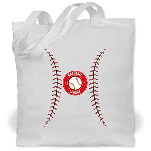 Shirtracer Karneval & Fasching - Baseball Kostüm - Unisize - Weiß - XT600_Jutebeutel_lang - WM101 - Stoffbeutel aus Baumwolle Jutebeutel lange Henkel