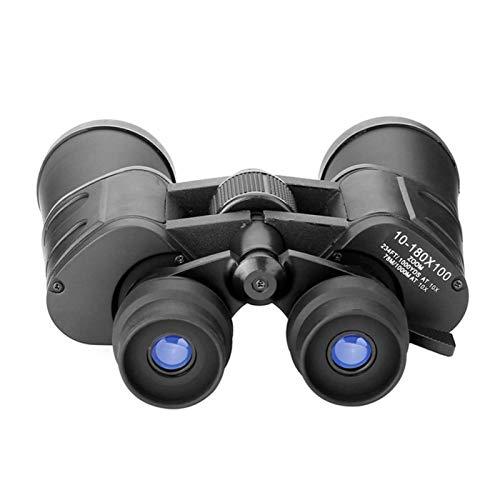DAUERHAFT Robusto telescopio Binocular portátil Antideslizante HD 180X100 portátil para observar Aves, Viajes, Senderismo, Actividades Deportivas con Volante de Enfoque Suave