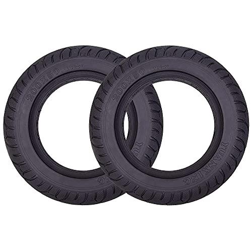 WYDM Paquete de 2 neumáticos sólidos de 200 x 50 (8 'x 2') de Repuesto para neumáticos sin Aire para Scooter Inteligente de 2 Ruedas y autoequilibrado E100 E150 E175 E200