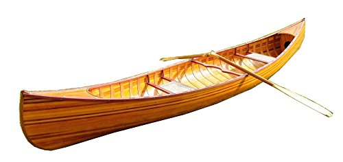 Wooden Canoe with Ribs Curved Bow, 12-Feet