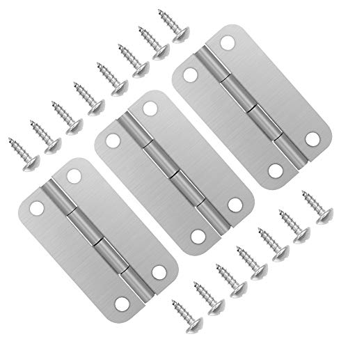 Picowe 3 Pack Cooler Hinges for Igloo Ice Chests, Cooler Stainless Steel Hinges Replacement Set with Screws
