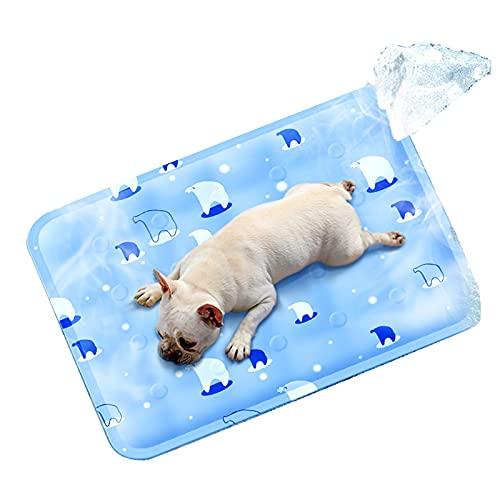 Tappetino di raffreddamento per cani auto raffreddamento tappetino estivo 9060 cm antigraffio impermeabile/antiscivolo tappetino di raffreddamento (blu, XL9060cm)