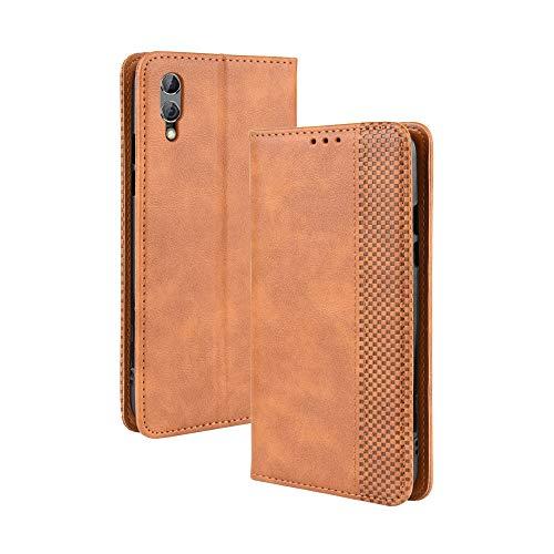 LAGUI Kompatible für Xiaomi Black Shark 2/2 pro Hülle, Leder Flip Hülle Schutzhülle für Handy mit Kartenfach Stand & Magnet Funktion als Brieftasche, braun