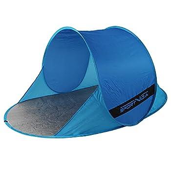 SportVida Tente de plage Pop Up - Tente de plage à monter soi-même - Avec poignée de transport - Portable - Protection solaire - Coupe-vent - Tente de jeu (SV-WS0035)