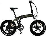 Momo MD-E20FF3-G - Bicicleta eléctrica Plegable Tokyo Unisex para Adulto, Verde, única