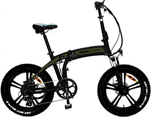 Momo MD-E20FF3-G, Bicicletta Elettrica Pieghevole Tokyo Unisex Adulto, Verde, taglia unica