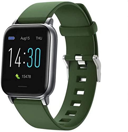 Reloj inteligente Reloj Inteligente Presión Arterial Control de Temperatura Corporal Pantalla Cuadrada Reloj Deportivo Fitness Tracker Ip68 Pulsera Impermeable - verde