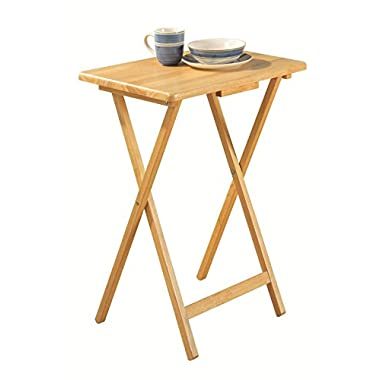 PJ Wood TV Tray Table in Natural