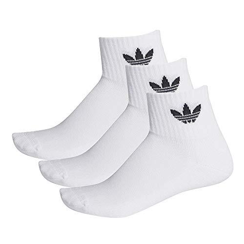adidas Unisex Mid-Cut Crew Socken (3 Paar), White/White/Black, M