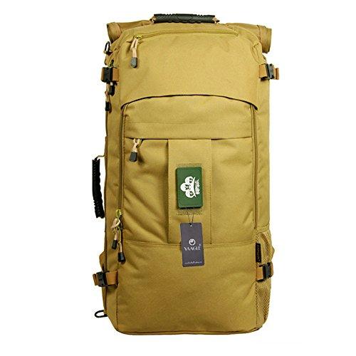 YAAGLE Sporttasche Gepäck militärisch Outdoor Schultertasche Reisetache Rucksack Sonnenschutzmittel Trekkingrucksack-Army Yellow-(20-inch)