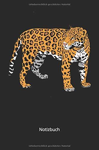 Notizbuch: Jaguar Raubkatzen Notizbuch für Tierfreunde (Liniertes Notizbuch mit 100 Seiten für Eintragungen aller Art)