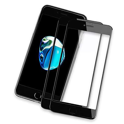 NEW'C Protector de Pantalla de Cristal blindado, Compatible con iPhone 7/8, iPhone SE 2020 (4.7'), 3D, dureza 9H, 0,33 mm, Ultra Transparente, Protector de Pantalla HD