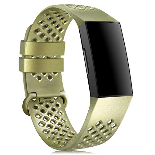 Onedream Cinturino Compatibile per Fitbit Charge 3/ Charge 4/ SE Cinturini Uomo Donna, Sportivo Silicone Classico Bracciale, Regolabile Ricambio Braccialetto per Charge 3/ Charge 4 Piccolo Grande