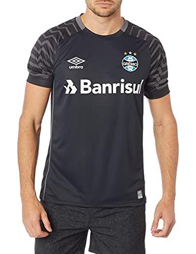 Camisa Goleiro Grêmio Oficial 2021, UMBRO, Masculino, Preto/Grafite, GG