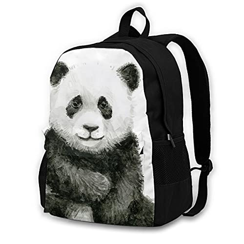 huobeibei Panda Backpacks Polyester Workout Youth Backpack Large Novelty Bags 17Inches 1