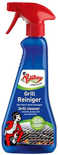 Poliboy - Grill Reiniger/Grill Cleaner/Barbecue Cleaner - löst leicht Fett und Verkrustungen - 375 ml - Sprühflasche - Made in Germany