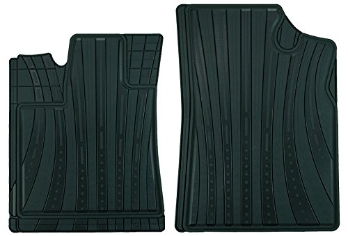 CarFashion 231973 LeMans, all-weather mat AB1, matten voor 2-delig, TPE rubber mat zwart, auto vloermatten set zonder mathouder