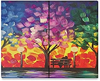 Wall Art Painting Romance in The Park Date Night Prints On Canvas The Picture Landscape Pictures Oil for Home Modern Decor...