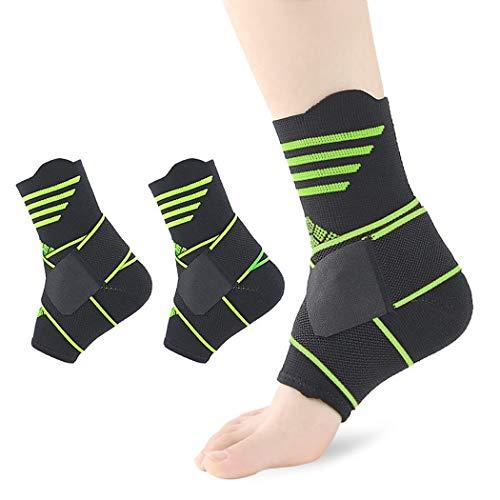 Cavigliere di supporto, 【1 Paio】 Kapmore Tutore Caviglia Fornisce La Supporto Per Slogature, Distorsioni Sportive. Ideal Cavigliera Sport, Distorsione o Cavigliere Ortopediche