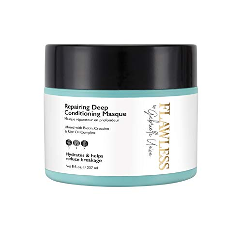 Flawless by Gabrielle Union - Repairing Deep Conditioning Hair Treatment Masque for Natural Curly and Coily Hair, 8 OZ