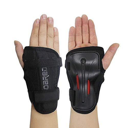 Handgelenkschützer, Skihandschuhe, Verlängerte Handgelenk Palmenschutz, Rollschuhlauf, harte Stulpen, Einstellbare Skateboardstulpen (M)