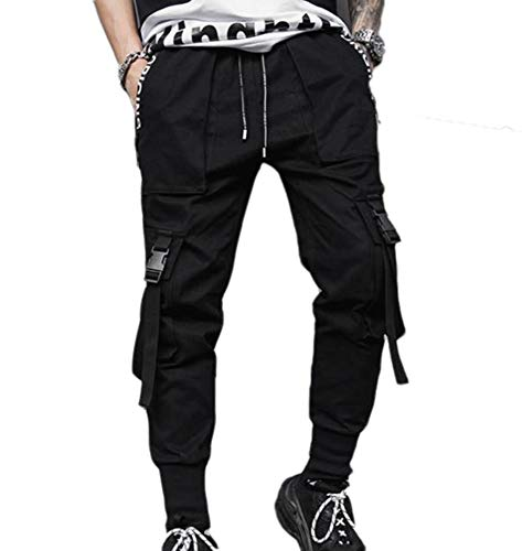 Pantalones De Hombre Hiphop Street Hip Hop Style Pantalones Casuales Jogger Cargo Pantalones De Chándal