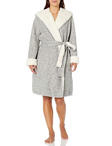UGG Women's Portola Reversible Robe, Grey Heather, L