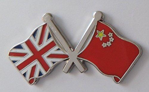 CHINE DRAPEAU & Royaume-Uni Drapeau Amitié COURTOISIE épinglette