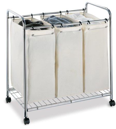 Neu Home 1763W-1, Laundry Sorter, Chrome