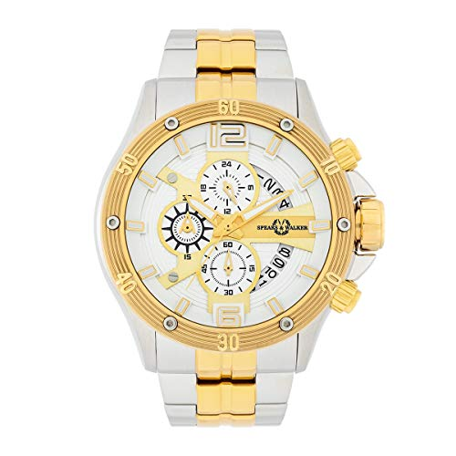 Spears & Walker Herren Uhr analog Japan Uhrwerk mit Edelstahl Armband 10070183