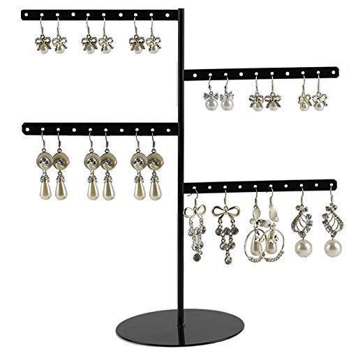 JOMOSIN SNH0216 Organizador de joyas, soporte para aretes, pulseras, anillos y relojes (color: negro, tamaño: libre)