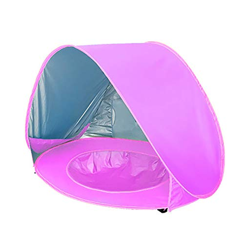 N\A Baby Beach Pop Up Tent, 190T Waterproof Silver Coated Polyester Fabric, Portable Lightweight Sun Shelter, Outdoor/Indoor Games for Infant Babies Toddler Boys & Girls