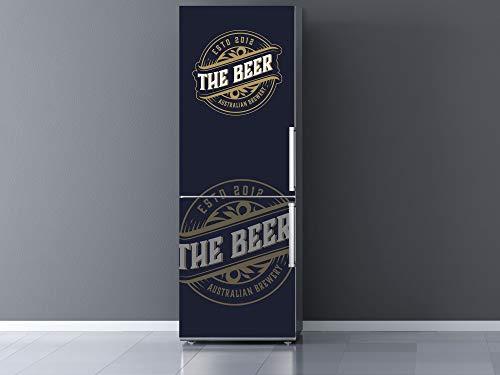 Oedim Vinilo Frigorífico The Beer, Vinilo Decorativo para neveras, decoración para cocinas, Pegatina Nevera