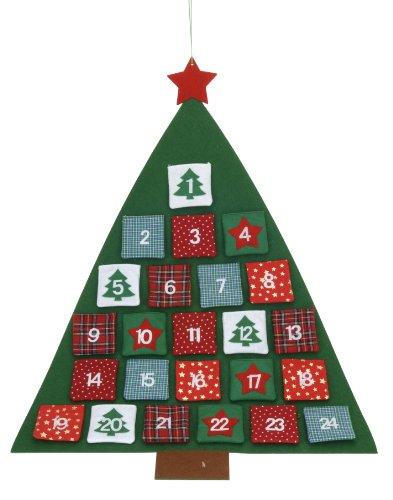 MQ-Power MQ XL Calendario dell' Avvento Calendario dell' Avvento Natale Albero di Natale con tasche di stoffa