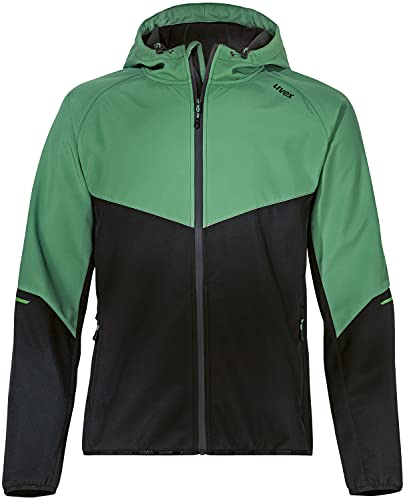 Uvex Hardhöhe Softshelljacke - Wasserabweisende Freizeitjacke aus recyceltem Polyester - Grün - XL