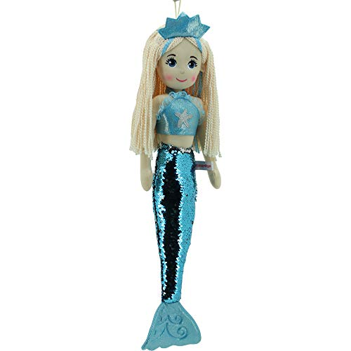 Sweety Toys 11896 Stoffpuppe Meerjungfrau Plüschtier Prinzessin 70 cm türkis