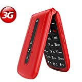 3G Unlocked Flip Mobile Phone for Seniors with SOS Big Button on The
