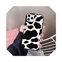 卡通 White Black Cow Symbol Pattern Print Phone Case for iPhone XS MAX 11 Pro 12 mini SE2020 X XR 7 6 8Plus Hard Cover Fundas-Style 4-For 11 Pro max