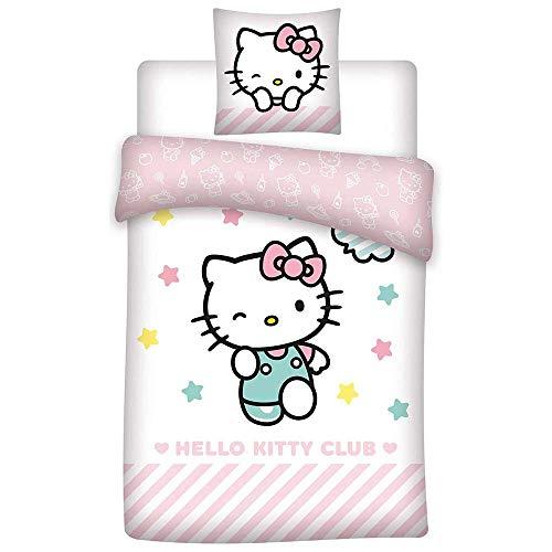 HK Hello Kitty Club - Parure da letto per bambini, copripiumino