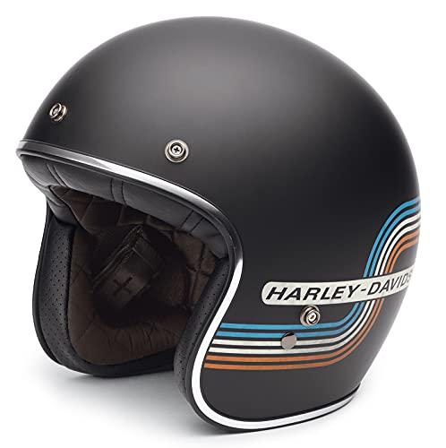 HARLEY-DAVIDSON Retro Tank Stripe 3/4 Helm, 98206-17EX, S