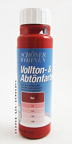 Voll- und Abtönfarbe Rot 250 ml