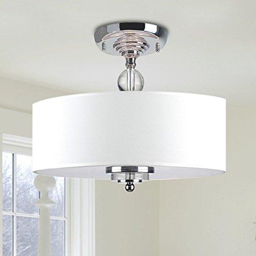 Saint Mossi Modern Deckenleuchte deckenlampe Dekoration weiß Stoff Lampenschirm Wohnzimmerleuchte Schlafzimmerleuchte Innenleuchte Durchmesser Lüster Kronleuchter Erforderlich Wohnzimmerlampe