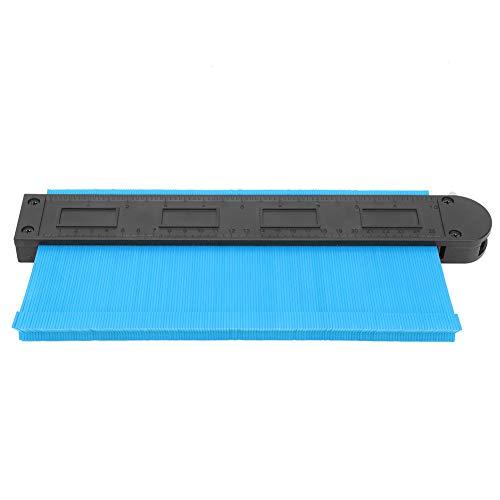 Oumefar Calibre de Contorno Regla de Contorno Marco de 10 Pulgadas Copia Manual del Perfil para la colocación de alfombras hidráulicas con Cerradura(Blue)
