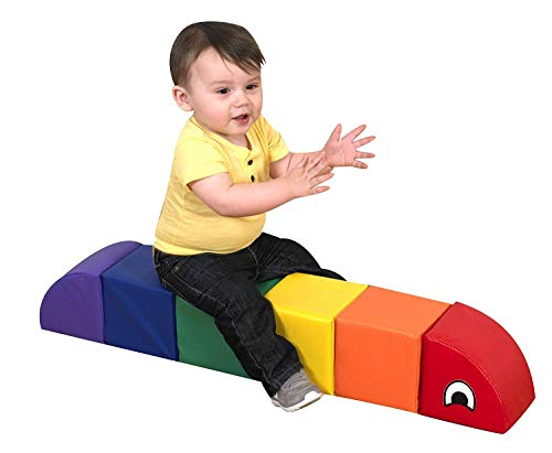 Children's Factory Baby Inchworm Foam Climber, Soft Indoor Play Equipment, Kids Climbing Toys, Toddler Crawling Toy for Daycares/Homeschools/Playrooms, Multicolor, Baby - Small (CF321-902)