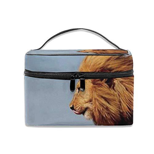 leeuw, mannelijk met kubus, voor reizen, make-up, trek, cosmetica, organizer, draagbaar, opbergtas