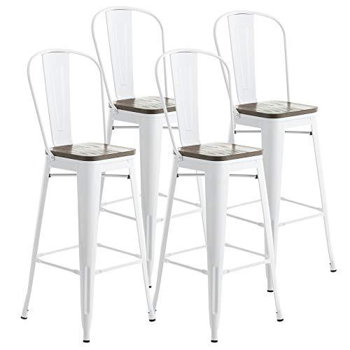 white bar stools - 3