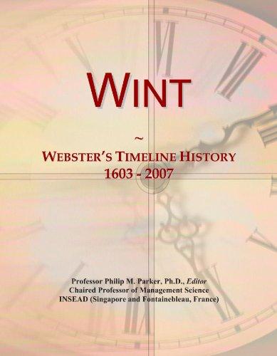 Wint: Webster's Timeline History, 1603 - 2007