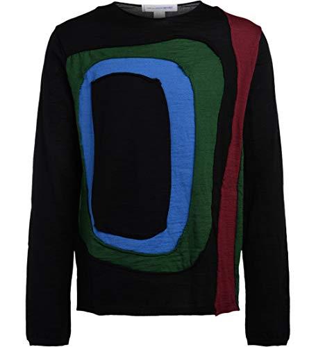 Comme des Garçons shirt mannen zwarte trui met Multi kleuren invoert M(INT) zwart