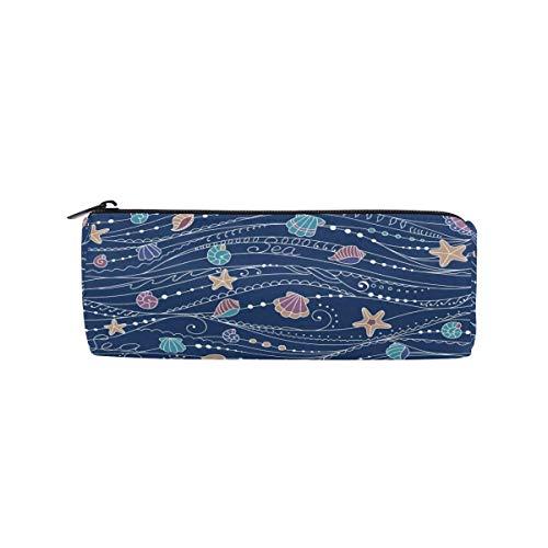 Blue Wave Schneckenhaus Starfish Pencil Case Beuteltasche School Stationery Pen Box Reißverschluss Kosmetische Make-up-Tasche