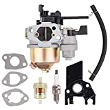 Hipa GX160 Carburetor for Honda GX200 GX 160 GX120 5.5 HP 6.5 HP Engine WP30X Water Pump Pressure Washer with Fuel Filter Spark Plug Tune Up Kit